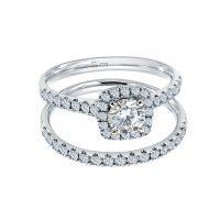 Meyson Jewellery Starrs Love's Halo Diamond Ring