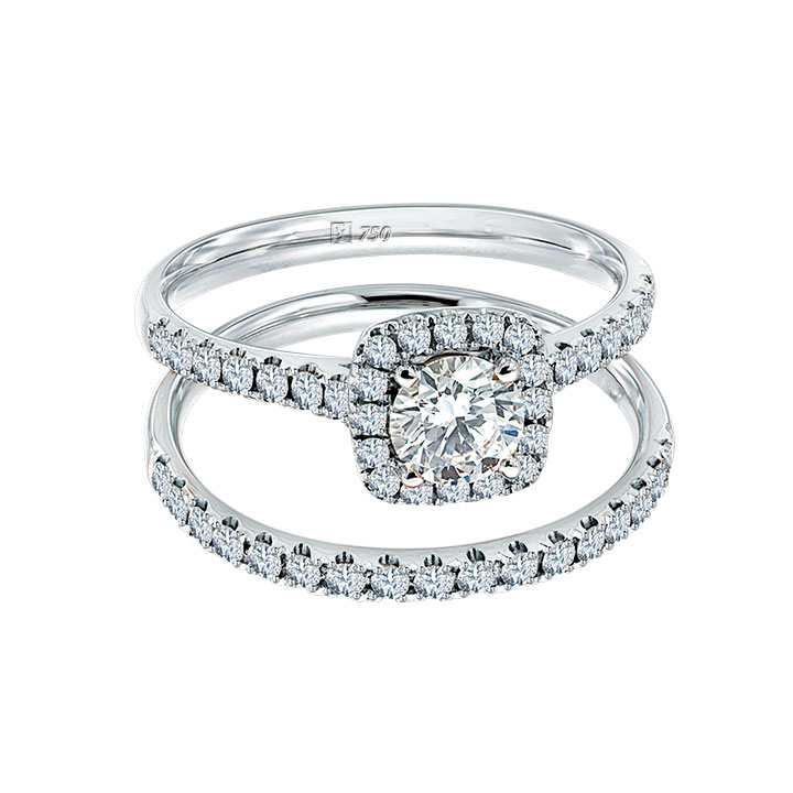 Meyson Jewellery Starrs Love's Halo Diamond Ring