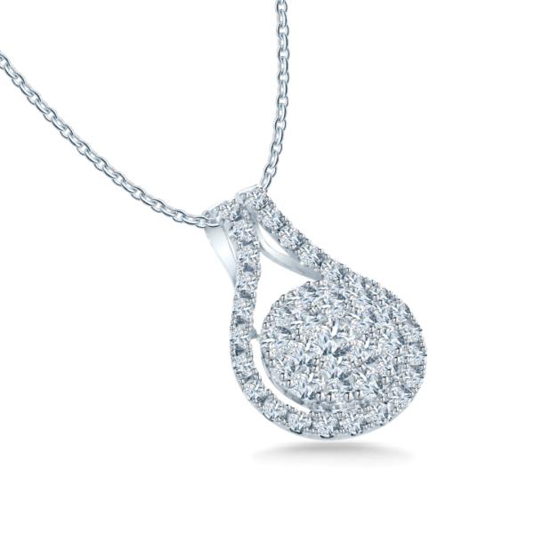 Cluster Diamond Pendant