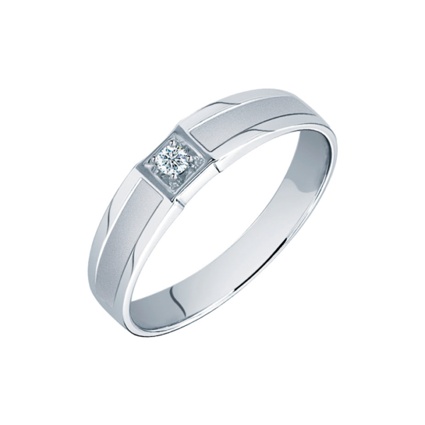 Solitaire Diamond Men's Ring