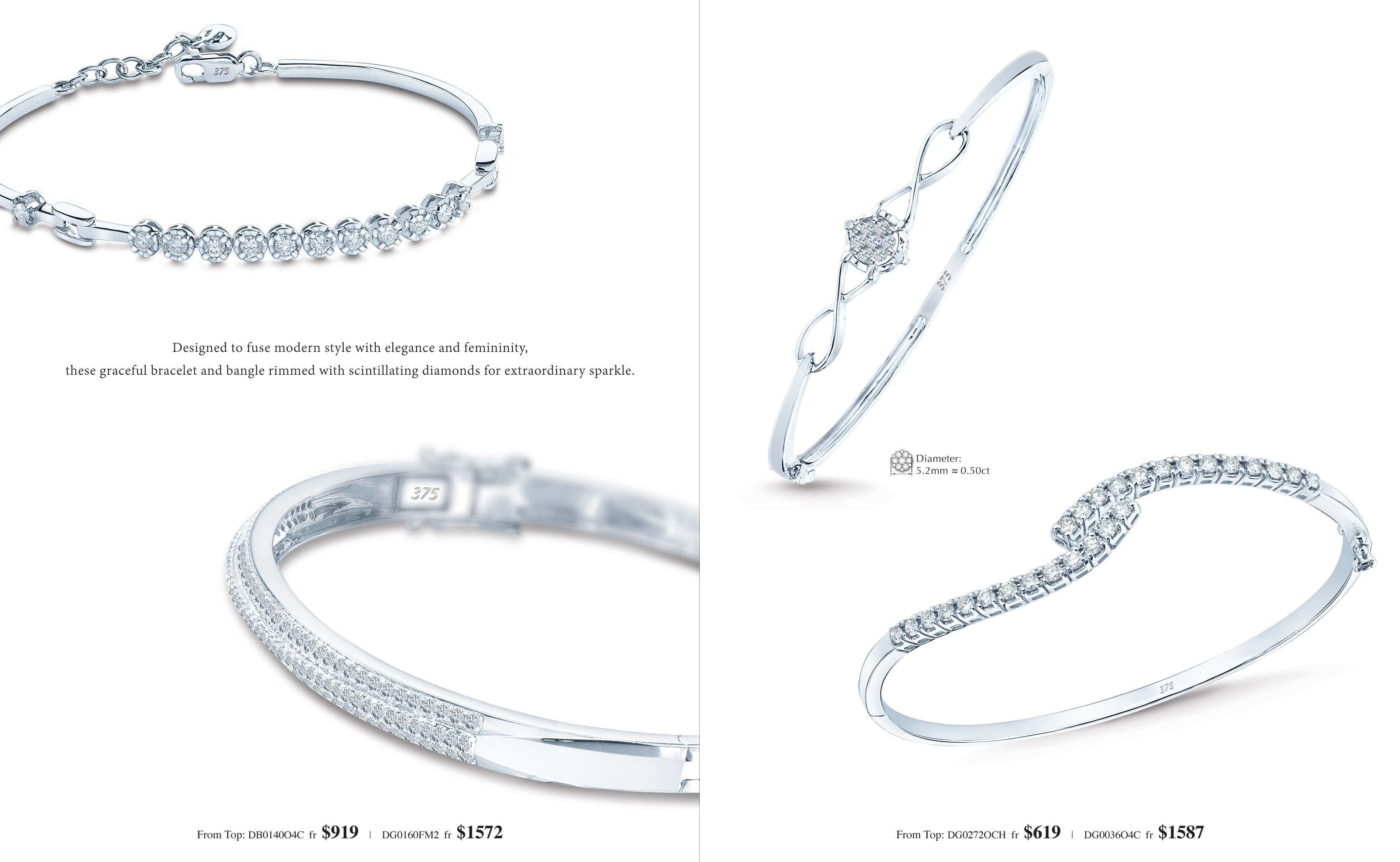 Meyson Jewellery Diamond Bangle