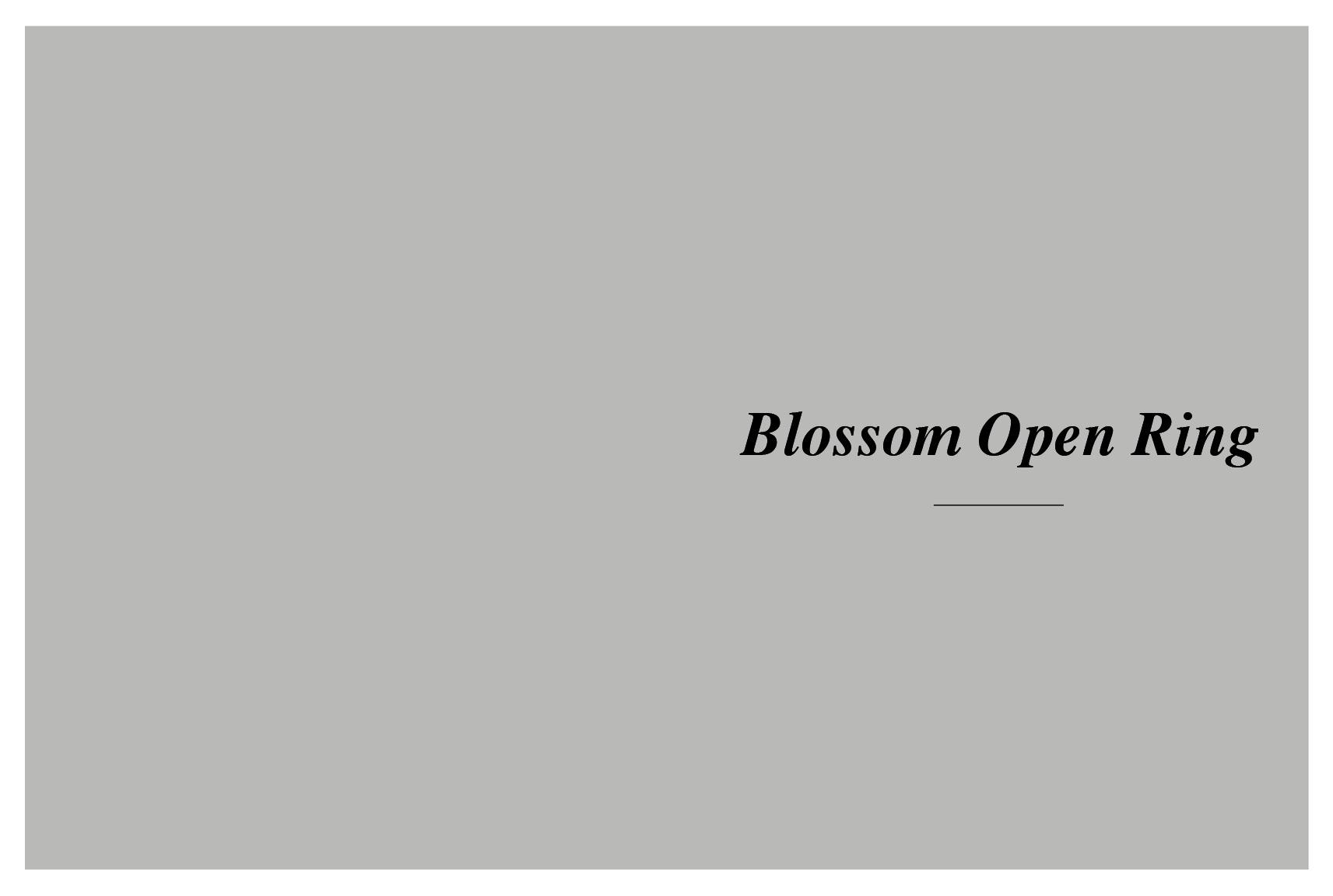 Meyson Jewellery Blossom Open Ring
