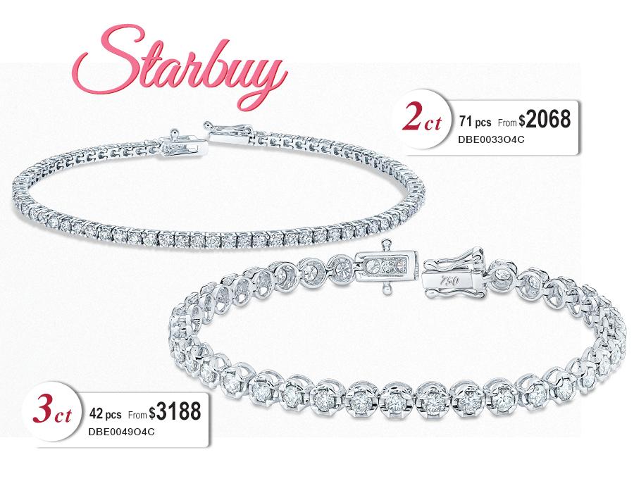 Starbuy Diamond Bracelet